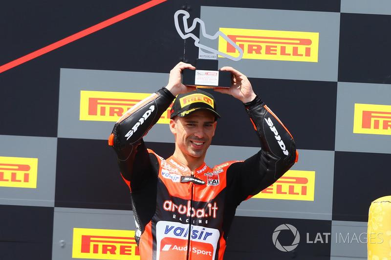 Podium : Marco Melandri, Aruba.it Racing-Ducati SBK Team