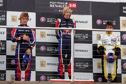 Podio: il vincitore della gara Brendon Hartley, Epsilon Red Bull Team, il secondo classificato Stefano Coletti, Epsilon Euskadi, il terzo classificato Nelson Panciatici, Boutsen Energy Racing