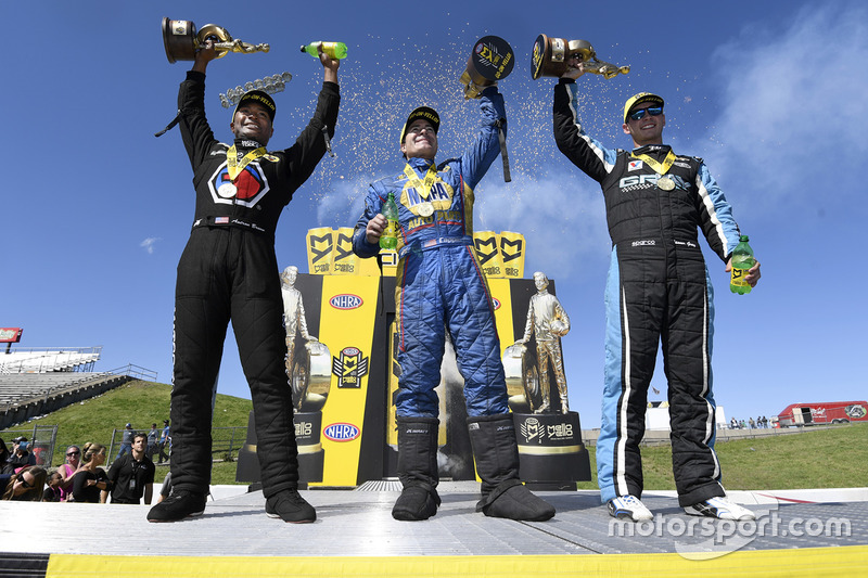 1. Top Fuel: Antron Brown; 1. Funny Car: Ron Capps; 1. Pro Stock: Tanner Gray