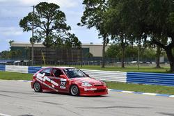 #105 MP4C Honda Civic, Dennis Fernandez, Scuderia Shell Burbank
