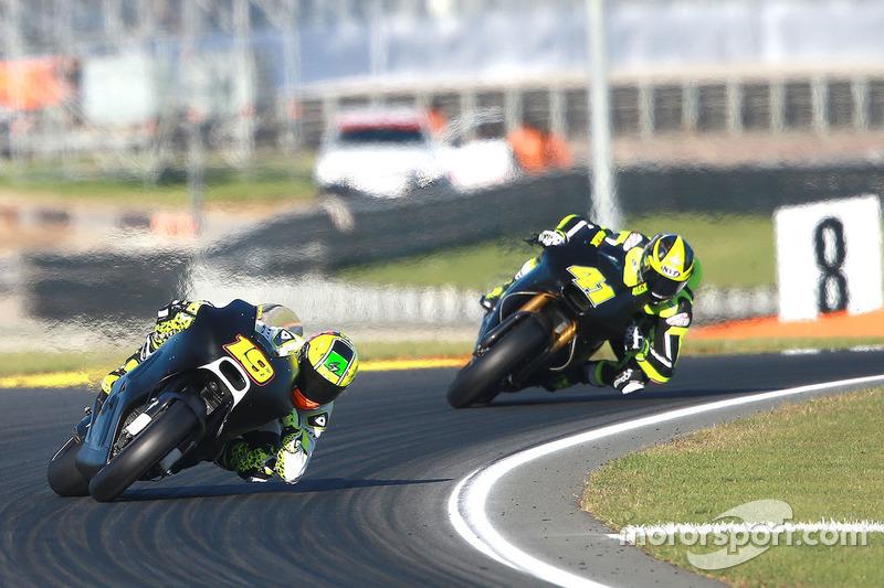 Alvaro Bautista, Aspar MotoGP Team; Aleix Espargaro, Aprilia Racing Team Gresini