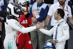 Winner Valtteri Bottas, Mercedes AMG F1, Felipe Massa, Williams, Sebastian Vettel, Ferrari