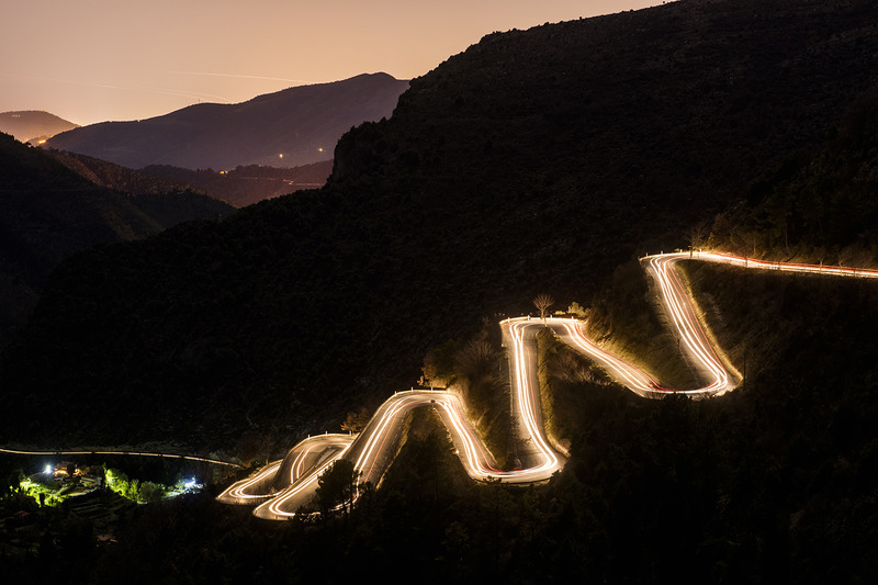 The famous and treacherous roads around the Monte Carlo area