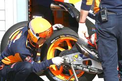 Un pneu Michelin de Marc Marquez, Repsol Honda Team