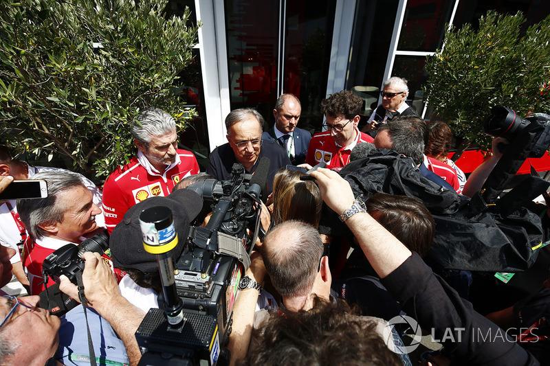 Sergio Marchionne y Maurizio Arrivabene, Ferrari