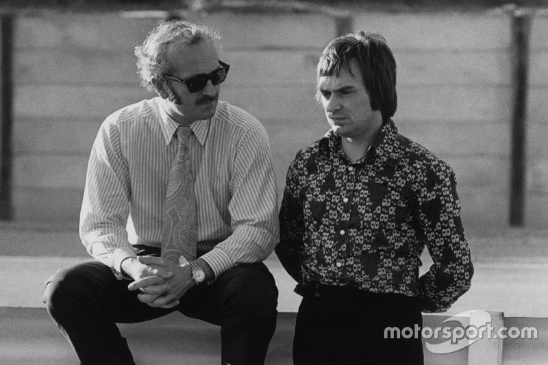Colin Chapman, Lotus, Teamgründer; Bernie Ecclestone, Brabham, Teambesitzer