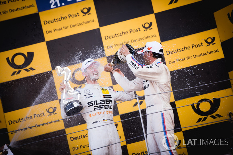 Podio: Ganador de la carrera Maro Engel, Mercedes-AMG Team HWA, Mercedes-AMG C63 DTM y Bruno Spengler, BMW Team RBM, BMW M4 DTM