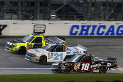 Noah Gragson, Kyle Busch Motorsports Toyota, Johnny Sauter, GMS Racing Chevrolet and Matt Crafton, ThorSport Racing Toyota