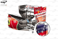 Ferrari F14 T rear wing, gradient slots added in endplate (Red Bull RB10 inset for design inspiration)