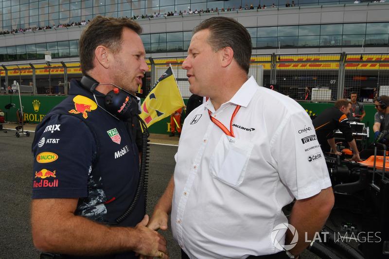 Christian Horner, Red Bull Racing Team Principal, Zak Brown, McLaren Executive Director