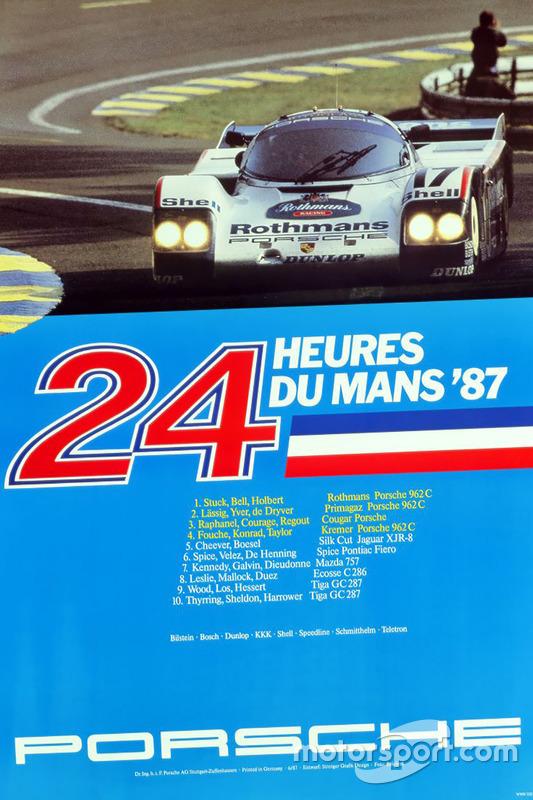Poster Porsche 24h de Le Mans 1987