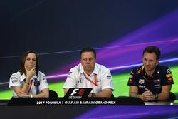 Claire Williams, Williams; Zak Brown, McLaren; Christian Horner, Red Bull