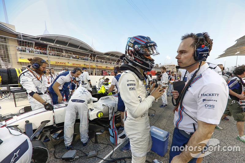 Lance Stroll, Williams Martini Racing, on the grid