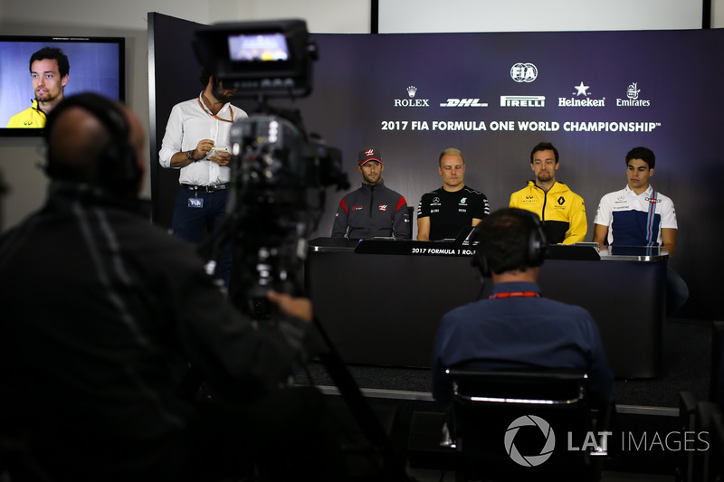 Ромен Грожан, Haas F1 Team, Валттері Боттас, Mercedes AMG F1, Джоліон Палмер, Renault Sport F1 Team, Ленс Стролл, Williams