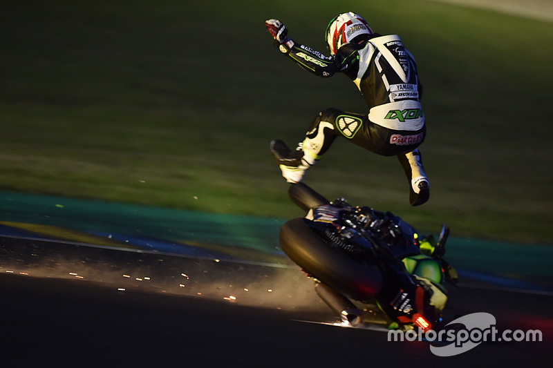 3. #35 Yamaha: Maxime Diard crash
