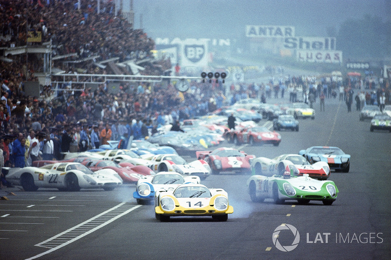 Start zu den 24h Le Mans 1969: Letzter klassischer Le-Mans-Start