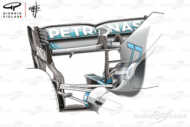Mercedes AMG F1 W09 rear wing