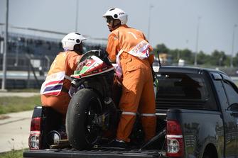 Redding's crashed bike