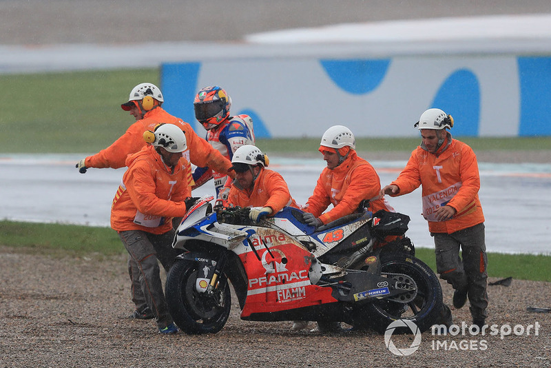 Jack Miller, Pramac Racing after crash