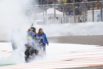 Alex Marquez, Marc VDS, fait un burn