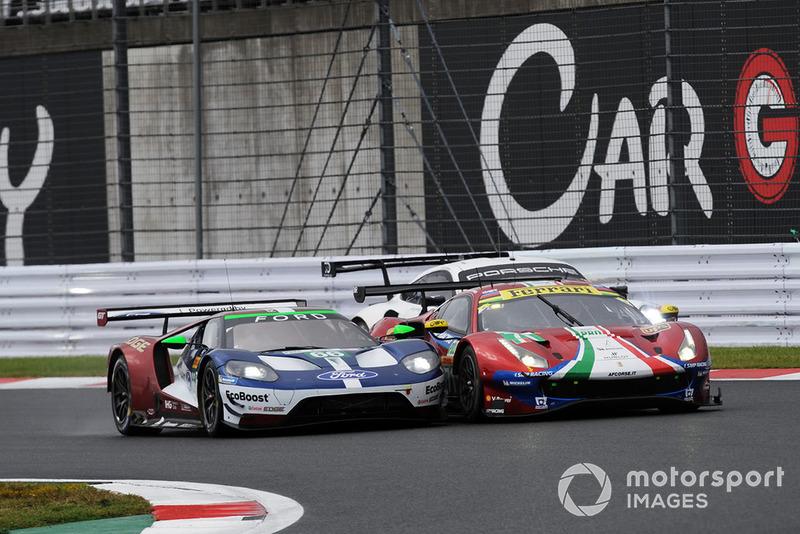 #66 Ford Chip Ganassi Racing Ford GT: Stefan Mucke, Olivier Pla, #71 AF Corse Ferrari 488 GTE EVO: Davide Rigon, Sam Bird