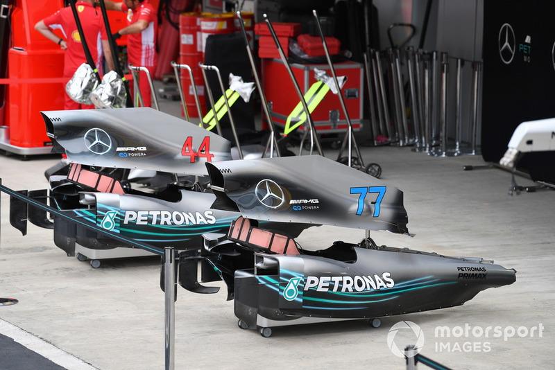 Des pièces de carrosserie Mercedes-AMG F1 W09