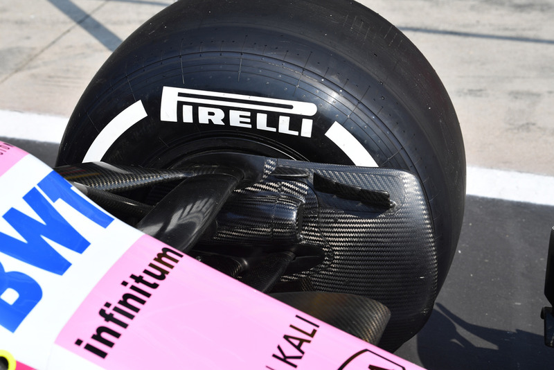 Racing Point Force India VJM11 brake duct detail