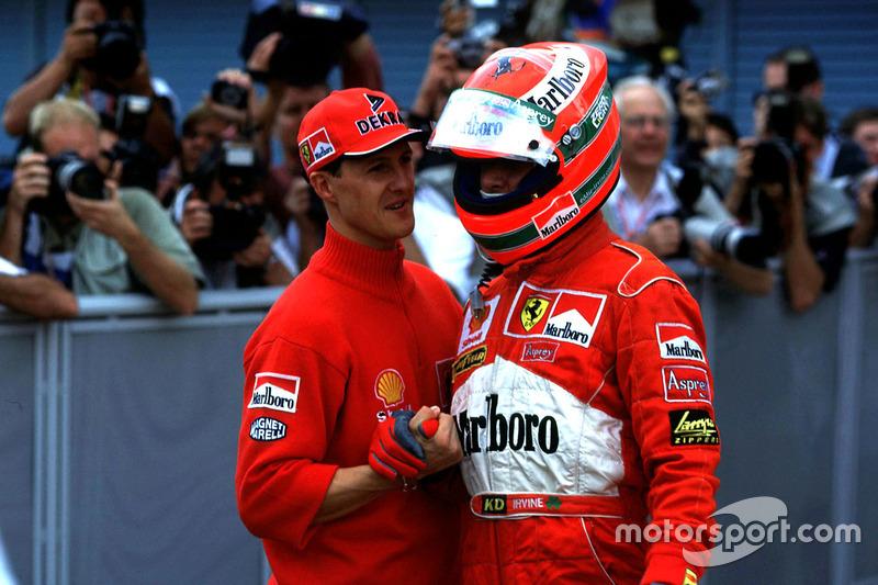 Michael Schumacher, Ferrari with Eddi Irvine, Ferrari