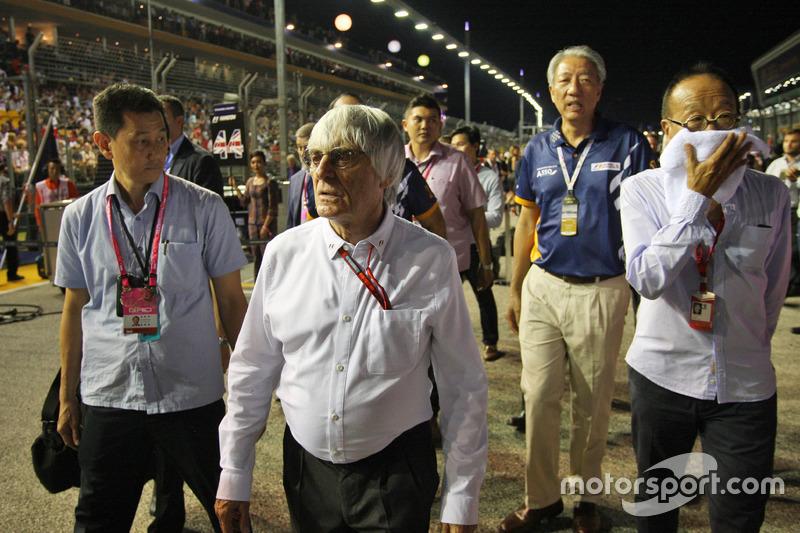 Bernie Ecclestone, en la parrilla