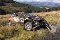 Alexey Lukyanuk, Ford Fiesta R5, incidente nei test