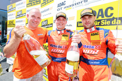 Podium: #24 kfzteile24 - APR Motorsport, Audi R8 LMS: Florian Stoll, Laurens Vanthoor mit Matthias Kieper