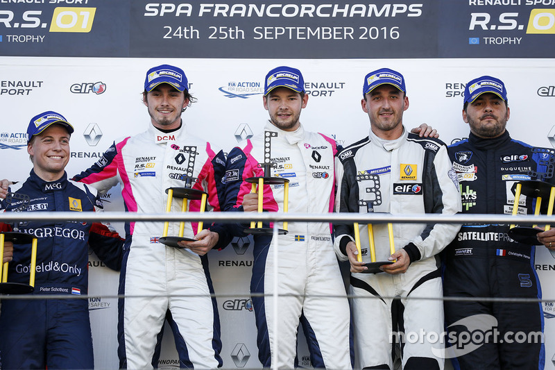 Podium: Sieger #2 R-ace GP Racing, Renault RS01: Raoul Owens, Fredrik Blomstedt; 2. #21 Equipe Versc
