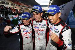 Race winners Sébastien Buemi, Anthony Davidson, Kazuki Nakajima, Toyota Gazoo Racing