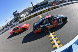 Christopher Bell, Joe Gibbs Racing Toyota and Justin Allgaier, JR Motorsports Chevrolet