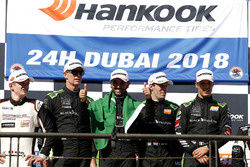 Podium: Race winners #2 Black Falcon Mercedes-AMG GT3: Abdulaziz Al Faisal, Hubert Haupt, Yelmer Buurman, Gabriele Piana
