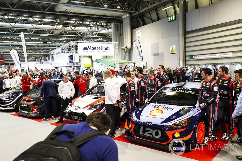 WRC cars launch