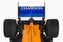 McLaren MCL33 detalle del ala trasera