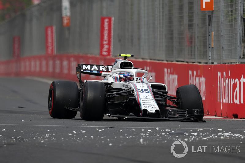 Retiro de carrera de Sergey Sirotkin, Williams FW41