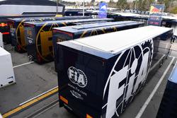 FIA trucks in Paddock