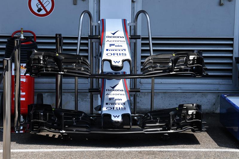 Morro y alerones delanteros del Williams FW41