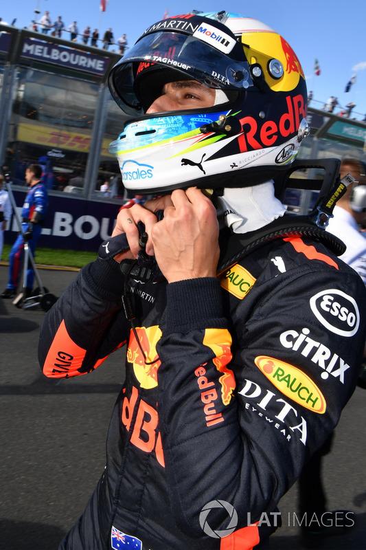 Daniel Ricciardo, Red Bull Racing on the grid