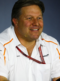 Zak Brown, Executive Director, McLaren Technology Group, in the team principals Press Conference