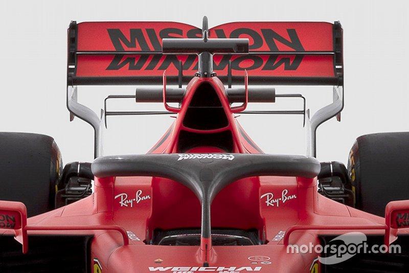 La toma de aire en la Ferrari SF1000 de la temporada 2020.
