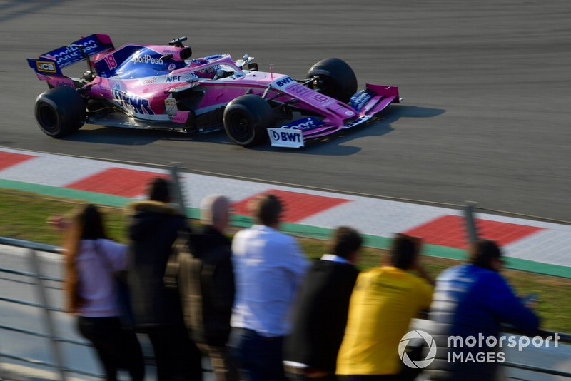 Lance Stroll, SportPesa Racing Point F1 Team RP19 and fans