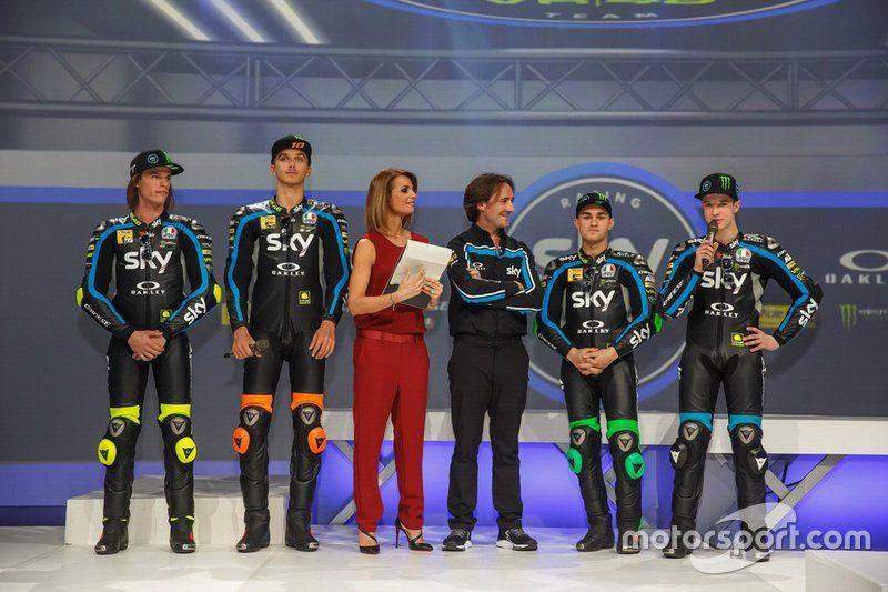 presentación Sky Racing Team VR46