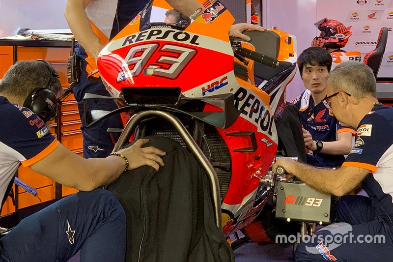 Fairing detail on the bike of Marc Marquez, Repsol Honda Team