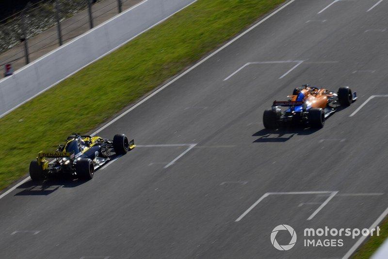 Daniel Ricciardo, Renault F1 Team R.S. 19 y Lando Norris, McLaren MCL34