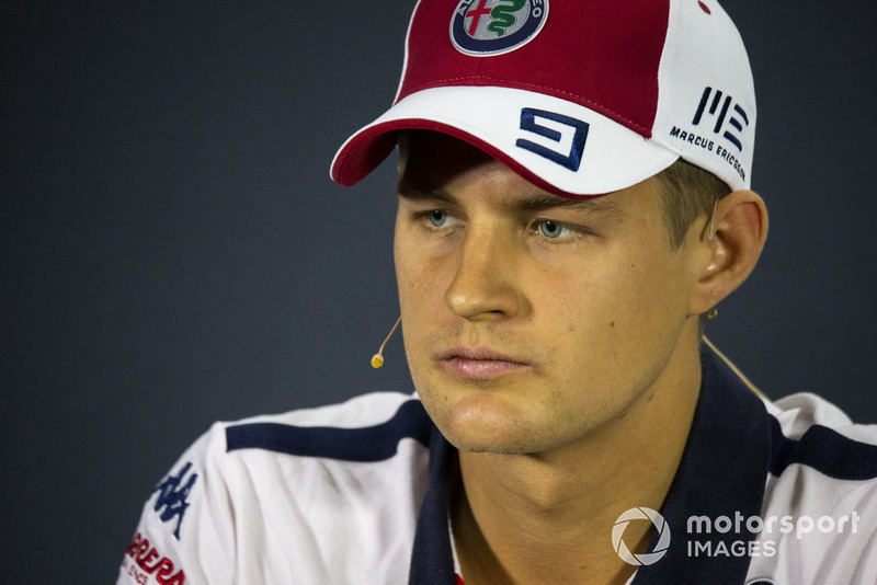 10. Marcus Ericsson, Sauber in press conference