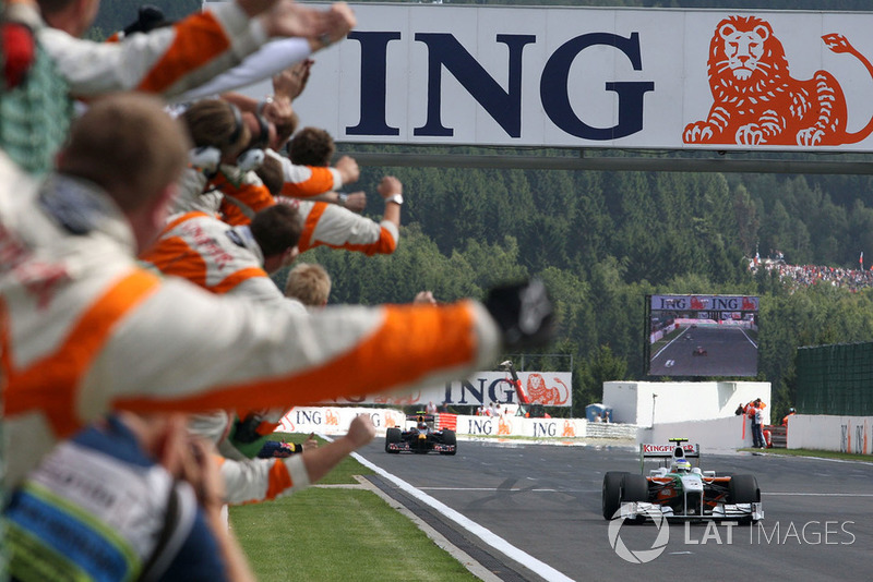 First points and podium (2009 Belgian Grand Prix)