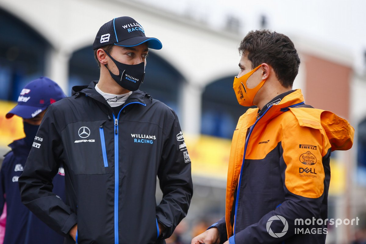 George Russell, Lando Norris, 2020 Turkish GP